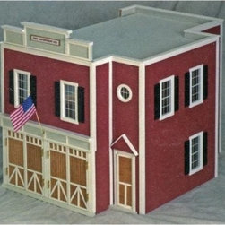 Real Good Toys QuickBuild Firehouse Kit - 1 Inch Scale - Precision workmanship gives the Real Good Toys QuickBuild Firehouse Kit - 1-Inch Scale a look of incredible realism. This old-fashioned firehouse, crafted from durable 0.375-inch MDF, is marked by attention to detail. It boasts milled clapboard exterior walls in vibrant red with cream trim. Among this 2-story, open-plan firehouse's features are a fire pole, coat rack, full staircase, and rooftop bracing. Stained and varnished hardwood has been installed on the second floor, and this thoughtful design also includes working doors and non-working windows. The firehouse opens from the back for easy access.Kit comes complete with detailed step-by-step instructions and drawings. Recommended supplies include glue, masking tape, and a screwdriver. Please note that any furnishings or landscaping are not included. This exquisite kit is suitable for use by collectors. As it includes small pieces, it's not recommended for children under the age of 3. About Real Good ToysBased in Barre, Vt., Real Good Toys has been handcrafting miniature homes since 1973. By designing and engineering the world's best and easiest to assemble miniature homes, Real Good Toys makes dreams come true. Their commitment to exceptional detail, the highest level of quality, and ease of assembly make them one of the most recommended names in dollhouses. Real Good dollhouses make priceless gifts to pass on to your children and your children's children for years to come.