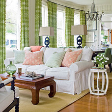 Colorfully Fun Living Room - 50 Comfy Cottage Rooms - Photos - CoastalLiving.com