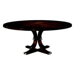 141-71 & 142-71-Artisan Round Dining Table Top & Base - Mahogany -