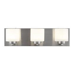 Alternating Current - Alternating Current AC1143 Clean 3 Light LED ADA Compliant Bathroom Vanity Light - Features: