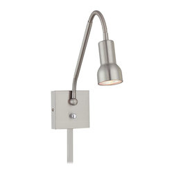 George Kovacs - George Kovacs P4401-084 Save Your Marriage Adjustable 1 Light Wall Sconce - Brushed Nickel Finish