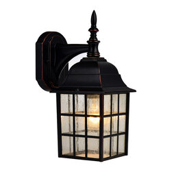 Hardware House - Oil Rubbed Bronze Outdoor Patio / Porch Exterior Light Fixture - Finish: Oil Rubbed Bronze