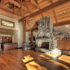 Traditional Family Room by Ward-Young Architecture & Planning - Truckee, CA