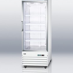 Summit - SCFU1510 Upright Frost-Free Freezer With Digital Thermostat  Self-Closing Door a - SUMMIT SCFU1510 is an upright commercial freezer designed to store and display products under the ideal conditions