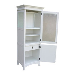 EuroLux Home - New China Cabinet White/Cream Painted - Product Details