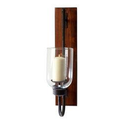 Cyan Design - Cyan Design Sydney Candleholder in Raw Iron and Natural Wood - Sydney Candleholder in Raw Iron and Natural Wood