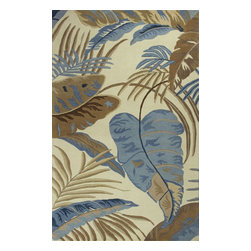 Kas - Country & Floral Havana 5'x8' Rectangle Ivory-Blue Area Rug - The Havana area rug Collection offers an affordable assortment of Country & Floral stylings. Havana features a blend of natural Ivory-Blue color. Hand Tufted of 100% Wool the Havana Collection is an intriguing compliment to any decor.