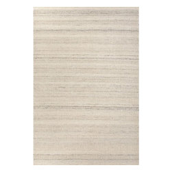 Jaipur Rugs - Jaipur Rugs Tetured Eco Friendly Wool Ivory/Gray Area Rug, 2 x 3ft - Flat woven un-dyed wool with different textural elements makes this collection feel both rustic and sophisticated. The best of both worlds!