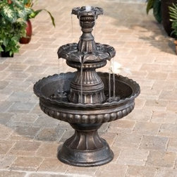 Garden Classic Three-Tier Fountain - This water fountain is perfect for your patio. Enjoy the soothing water sounds.