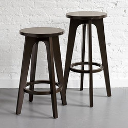Klismos Bar Stool + Counter Stool - Scandi-Greek chic. Putting a Scandinavian-mod spin on the classic Greek Klismos chair, these easy-going, adaptable stools are crafted for maximum comfort and support, with gently, angled legs.