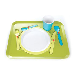 Royalvkb - Puzzle Dinner Tray - What harried parent doesn't need new ways to entertain kids at the table while prepping dinner? Get your child's brain whirring with this dinner tray, a puzzle that helps children learn how to correctly set the table. Who knows, maybe they'll surprise you by putting their newfound knowledge to work!