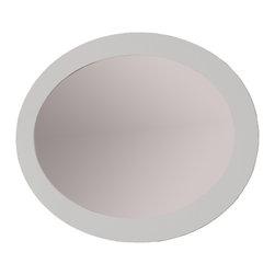 "Bergamo 47""1/4 oval mirror.white - Verona 47""1/4 bathroom mirror. white."