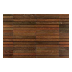 """FlexDeck - FlexDeck Interlocking Deck Tiles, Copacabana Ipe 12x24 - FlexDeck presents exotic wood deck tiles. Quickly build any unique outdoor living space by simply snapping the deck tiles together with no nails or glue. These interlocking deck tiles are an innovative product designed to be used by anyone from a beginning do-it-yourselfer to builders looking for a beautiful, easy to install wood deck.    FlexDeck wood deck tiles instantly provide a solid hardwood deck surface on patios, balconies, next to a pool or spa, or even in the kitchen and bathroom areas. Most decks can be easily installed in a couple of hours.    When compared to the prep, lay-out, set-up and construction of a traditional deck, it's easy to see why FlexDeck Deck Tiles are a popular solution. Most importantly, the deck is completely reusable - just unsnap the deck tiles in one location and re-snap them together again in another. [9.4 sq ft/box] - Copacabana Ipe / 12""""x24""""x1"""""""