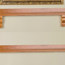 Hunter Fireplace Mantel Shelf - Available with or without the legs, the staggered tiers of the Hunter Wood Fireplace Mantel Shelf effortlessly combines traditional design with modern finishes. -Mantels Direct