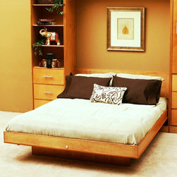 Wallbeds - Modern Birch Murphy Bed - The beam structure mattress tray provides foundation-like support and is operated with a patented piston lift system with a ten-year limited warranty. The bed latches closed and features a key lock for added security. Installation is done with household tools in less than an hour. The bed accepts standard size mattresses up to 11'' thick. Features: -Material: Birch solids and veneers.-Beam structure mattress platforms for foundation-like support.-Patented lift mechanism for ease of operation.-Bed latches in the closed position for security.-Keyed lock allows bed to be locked closed to prevent unwanted operation.-Buckled straps hold mattress in place under your linens, not interfering with making the bed.-Bed accepts standard size mattresses up to 11'' thick.-Made in USA.-Modern Birch collection.-Distressed: No.-Collection: Modern Birch.-Country of Manufacture: United States.Dimensions: -Full dimensions: 85'' H x 59'' W x 17'' D.-Queen dimensions: 90'' H x 65'' W x 17'' D.-Overall Product Weight: 245 lbs.Warranty: -10 Year limited warranty.