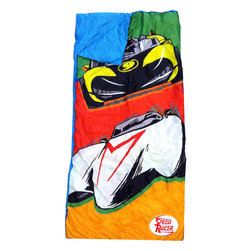 Jay Franco and Sons - Speed Racer Slumber Bag 2 Pieces Sleepover Backpack Set - FEATURES: