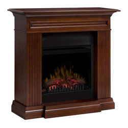 Dimplex - Dimplex Branagan Electric Fireplace Mantel Package in Walnut - The Branagan Electric Fireplace offers traditional styling in a compact design. The ideal solution for your zone heating needs, this Dimplex fireplace provides supplemental heat for up to 400 square feet and can be operated with or without heat. The DFP20-1315WN features a rich walnut finish, a 20-inch electric firebox, patented LED flame technology on/off remote control, and 1 year warranty.