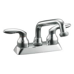 "Kohler - Kohler K-15271-4-CP Polished Chrome Coralais Coralais Double Handle - Coralais(R) laundry sink faucet with threaded spout and lever handles Offering convenience, quality and style at a competitive price, this Coralais laundry sink faucet brings sleek design continuity to any room, and features a threaded spout. Two sculptured lever handles complete the look. For installation on 4"" centers  All-metal construction ensures durability and long life  One-piece ceramic valve resists debris and hard water buildup"