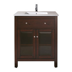 Avanity - Lexington 24-inch Double Vanity Only - Stately yet with clean sleek lines and unfussy hardware, this vanity strikes the ideal balance between traditional and modern. It's crafted of solid poplar with a porcelain top to be a standout piece — real furniture — for your bath.