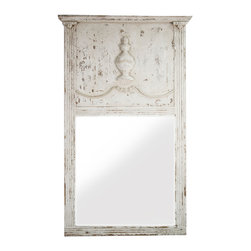 Shadow Creek Mirror - Bring elegant Provencal style to your bedroom or living room when you adorn it with the distressed white Shadow Creek Mirror as part of your homes decor. Import the lived in comfort of the French countryside into your home with the dainty, classical carvings and edging on gorgeous soft birch wood.