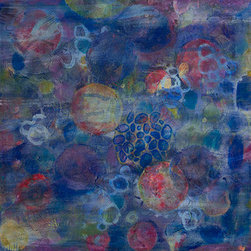 Cell No.21 (Original) by Angela Canada Hopkins - Abstraction of organic structures, resembling cellular membranes.