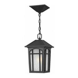 Hinkley Lighting - Hinkley Lighting 1982BK Cedar Hill Black Outdoor Hanging Lantern - Hinkley Lighting 1982BK Cedar Hill Black Outdoor Hanging Lantern