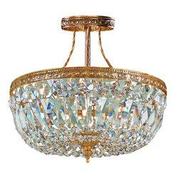 Crystorama Lighting Group - Crystorama Lighting Group 119-10 Richmond 3 Light Semi-Flush Crystal Ceiling Fix - Crystorama 119-OB-10 Three Light Down Lighting Semi Flush Ceiling Fixture  Finish: