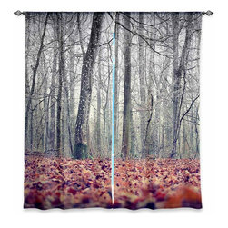 "DiaNoche Designs - Window Curtains Unlined - Monika Strigel It's in the Wood - Purchasing window curtains just got easier and better! Create a designer look to any of your living spaces with our decorative and unique ""Unlined Window Curtains."" Perfect for the living room, dining room or bedroom, these artistic curtains are an easy and inexpensive way to add color and style when decorating your home.  This is a tight woven poly material that filters outside light and creates a privacy barrier.  Each package includes two easy-to-hang, 3 inch diameter pole-pocket curtain panels.  The width listed is the total measurement of the two panels.  Curtain rod sold separately. Easy care, machine wash cold, tumbles dry low, iron low if needed.  Made in USA and Imported."
