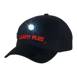 Other - Black Lamps Plus LED Baseball Cap - Light your way with this LED lighted baseball cap. Made of 100 percent cotton this comfortable hat features a front-and-center adjustable LED light that is powered by two AAA batteries (not included). The batteries can operate the cap at average brightness for approximately four hours. Black cotton cap. Super bright 1/2 watt LED light. Takes two AAA batteries (not included).  Black cotton cap.   Super bright 1/2 watt LED light.   Takes two AAA batteries (not included).