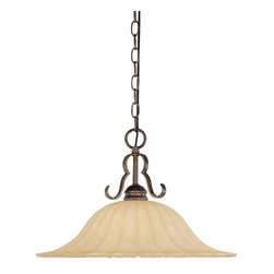 Designers Fountain - Designers Fountain Radford Transitional Pendant Light X-NSF-23628 - Go for a ride on some dangerous curves with the Radford Transitional Pendant Light. The Forged Sienna finish when combined with the light fixtures Warm Amber Glaze creates a truly stunning design. This Pendant Light is a  curvaceous reminder of how sometimes a curve can be the sharpest option.