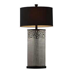 Dimond Lighting - Dimond Lighting D1490 Bellevue Single Light Table Lamp In Silver Plated Finish - We are proud to present a comprehensive product offering driven by emerging fashion and industry leading trends.