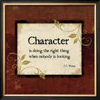 Artcom - Character by Jennifer Pugh - Character by Jennifer Pugh is a Framed Art Print set with a COVENTRY Black Thin wood frame.