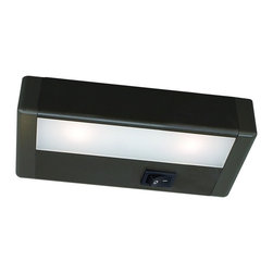 """WAC - W.A.C. LED 8"""" Wide Bronze Under Cabinet Light Bar - Bring out the best in your decor with this versatile LED light bar from W.A.C. Perfect for cabinets curios and kitchen counters this fixture contains energy efficient LED bulbs with a life of up to 50000 hours. It is also thermally efficient allowing use with heat- and UV-sensitive artwork clothing and decor items. Bronze finish. Includes two LEDs. Output of 127 lumens. Energy efficient. 8"""" wide. 1 """" high. 2 3/4"""" deep.  Bronze finish.  LED under cabinet light bar.  Output of 127 lumens.  Comparable to a 20 watt incandescent.  Includes two LEDs. Totaling 3.6 Watts  2900K.  Energy efficient design.  8"""" wide.  1 """" high.  2 3/4"""" deep.  Aluminum construction -Acrylic lens.  Interconnection accessories available.  Dimmable with low voltage dimmer to 10%.  1"""" Inner connector and mounting hardware included.  Bronze finish.  LED under cabinet light bar.  Output of 127 lumens.  Comparable to a 20 watt incandescent.  Includes two LEDs. Totaling 3.6 Watts  2900K.  Energy efficient design.  8"""" wide.  1 """" high.  2 3/4"""" deep.  Aluminum construction -Acrylic lens.  Interconnection accessories available.  Nor dimmable.  1"""" Inner connector and mounting hardware included.  Built in driver."""