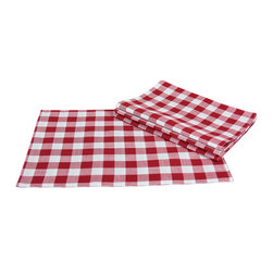 Xia Home Fashions - Gingham Check Set Of 4 Placemats, 13In By 19In Red - This timeless pattern has been an essential part of gatherings of family and friends for generations. Available in classic red as well as blue, yellow, green and natural, you are sure to find the perfect color for any occasion.