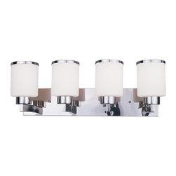 Z-Lite - Z-Lite 313-4V Cosmopolitan 4 Light Bathroom Vanity Light with White Glass Shade - Features: