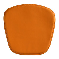 "Zuo - Zuo Modern Wire/Mesh Orange Seat Cushion - This simple orange cushion is perfect for any of the Zuo Modern Wire or Mesh chairs. It adds even more comfort to the already functional curvaceous furniture designs. The PVC material is water-resistant and easy to clean with water and a soft brush. Orange PVC water-resistant cushion. Stitched trim detail. Foam fill. 18 1/2"" wide 1/2"" thick.  Orange PVC water-resistant cushion.  Stitched trim detail.  Foam fill.  18 1/2"" wide 1/2"" thick."