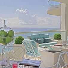 Eclectic Patio by DKOR Interiors Inc.- Interior Designers Miami, FL