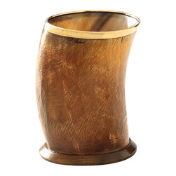 Foreign Affairs Home Decor - Buffalo Horn Vase DANA with Copper Finish, Medium - Rustic and yet elegant, our DANA vase made from Buffalo Horn brings a taste of the exotic into your interiors. Every piece is unique.