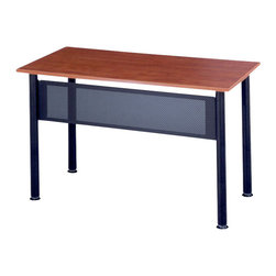 "Mayline - Mayline Encounter Rectangular Heavy Gauge Steel Table w/ Cherry Top-72"" x 18"" - Mayline - Meeting / Training Tables - 1872RECRYBLK -"