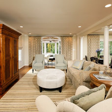 Traditional Living Room by Case Design/Remodeling, Inc.