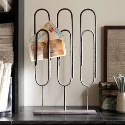 Standing Paper Clip - I adore these paper clip desk holders. They're the perfect decorative piece to make you smile.