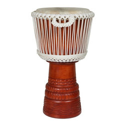X8 Drums - X8 Drums Elite Ivory Djembe Drum - X8-E-PRO-IV-M - Shop for Toy Instruments from Hayneedle.com! The X8 Drums Elite Ivory Djembe Drum brings top of the line djembe construction to a mid-size drum. The drum is easily portable and has an incredible range meaning it can go anywhere be it musically or physically. About X8 DrumsX8 Drums truly walks to the beat of their own drum. This family-owned company is committed to providing the best selection of high-quality musical instruments with an emphasis on world music percussion instruments. X8 Drums has certainly helped champion ethnic hand drums in the digital age thanks to its founders - a New York City rocker and an internet sage.