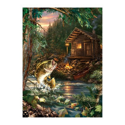 Masterpieces - Masterpieces Peek Season Gone Fishing Puzzle Multicolor - 71262 - Shop for Puzzles from Hayneedle.com! About Masterpieces Puzzles & GamesFor the past 17+ years Masterpieces has delighted kids and parents. From art kits to puzzles of all levels Masterpieces ensures playtime activities that develop cognition as much as they foster fun. All Masterpiece items are tested for safety and this company is definitely eco-minded: All of their puzzles are manufactured using board with 100% recycled post-consumer materials their puzzle sheets wraps and catalogs are printed with soy-based inks and even included storage bags are biodegradable. Quality mindful products are what you can expect from Masterpieces.