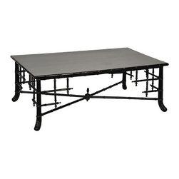 NOIR - NOIR Furniture - Java Coffee Table in Hand Rubbed Black - GTAB133HB - Features: