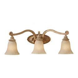 FEISS - FEISS Blaire 3 Light Vanity Strip in Medium Aged Wood VS18803-MAW - FEISS Blaire 3 Light Vanity Strip in Medium Aged Wood VS18803-MAW