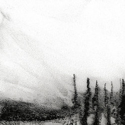 """Ann Rea - Bring home Dear Valley, Utah with """"Snowed Sky I"""" charcoal on paper by Ann Rea - """"I was attracted to the big sky over Deer Valley as it whipped up the weather."""" -Ann Rea"""