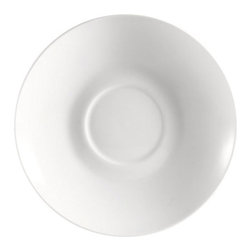 CAC China - Majesty Pattern 6 Inch White Saucers - Case of 36 - DescriptionsC.A.C China provides durable dinnerware at all levelsincluding super white porcelain fine bone china American white chinacolored glaze china and Asian style china. C.A.C China offers a variety of innovative shapes from square rectangular triangular wavy to round that will brighten up any tables for modern trendy restaurants hotels resorts clubs caterers cruises etc. All C.A.C China products are oven microwave and dishwasher safe.