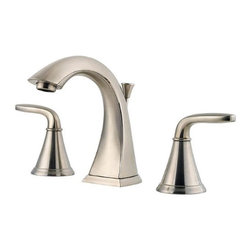 Price Pfister - Price Pfister F-049-PDKK Pasadena Double Handle 3-Hole Widespread Lead Free Bath - Price Pfister F-049-PDKK Pasadena Double Handle 3-Hole Widespread Lead Free Bathroom Faucet in Brushed NickelA truly versatile design, the Pasadena® Collection is a transitional piece that defies definition to complement a variety of decorative settings. Its clean curves and sturdy foundation radiate style. Available in a variety of finishes, Pasadena simplifies remodeling by featuring coordinating faucets and showerheads to offer a complete solution for today's bathroom upgrade. Price Pfister F-049-PDKK Pasadena Double Handle 3-Hole Widespread Lead Free Bathroom Faucet in Brushed Nickel, Features:• 2-handle lever design for ease of use