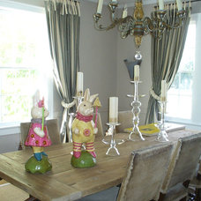 Traditional Dining Room by The Virginia Gail Collection