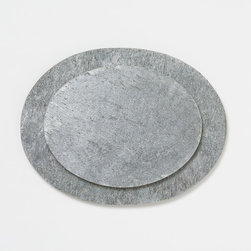 Silver Slate Cheese Board - A slate cheese board would be perfect for entertaining. The style is sort of a casual luxury that balances a rustic table setting.